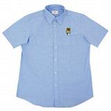群馬県のマスコット「ぐんまちゃん」半袖ボタンダウンシャツです。